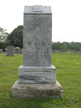 Jesse M. Kirby - Headstone at Odd Fellows Cemetery