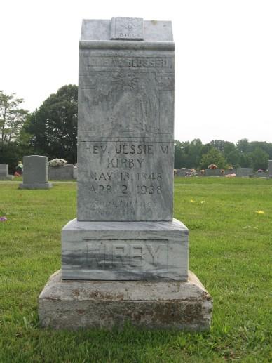 Jesse M. Kirby - Headstone at Odd Fellows Cemetery